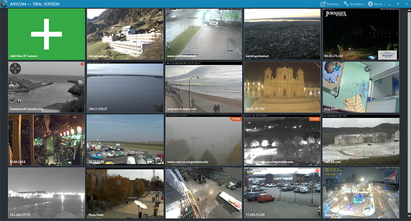 View the pictures from IP cameras with MJPEG